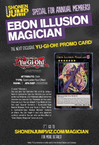 Ebon Illusion Magician announcement in VIZ Media's Weekly Shonen Jump #39