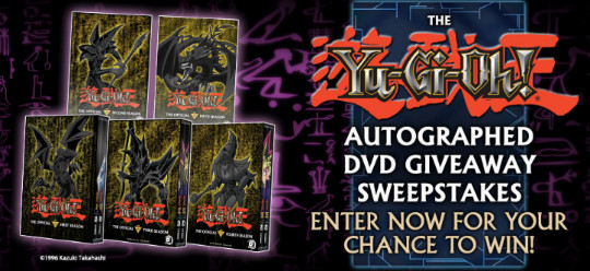 YUGIOH.com autographed DVD giveaway sweepstakes banner
