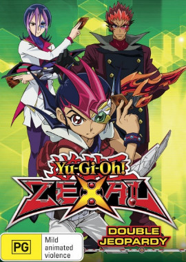 DVD cover artwork of Yu-Gi-Oh! ZEXAL Volume 7 Double Jeopardy from Roadshow Entertainment