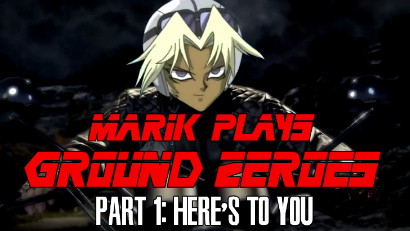 Title card for LittleKuriboh's Marik Plays Ground Zeroes episode 1