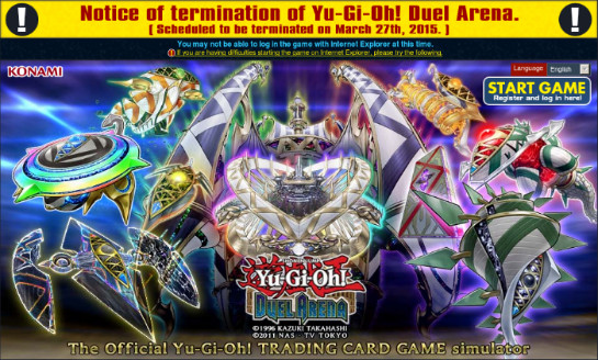 Qliphort Yu-Gi-Oh! Duel Arena banner with termination notice