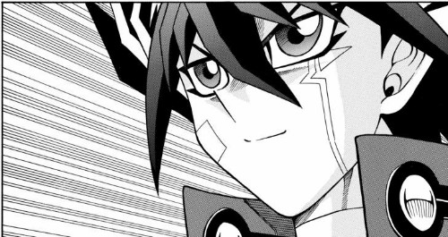 Yusei Fudo getting pumped for the D1 Grand Prix in the Yu-Gi-Oh! 5D's manga chapter 8