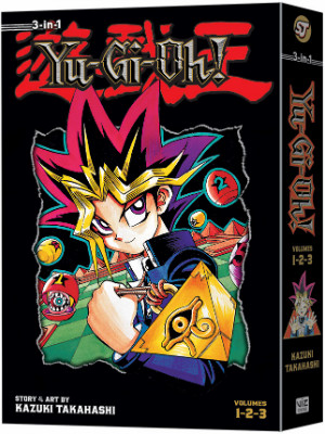 VIZ Media's Yu-Gi-Oh! 3-in-1 omnibus manga book 1 cover mock-up