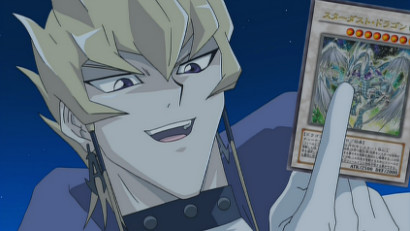 Jack accepting Yusei's challenge to win back Stardust Dragon in Yu-Gi-Oh! 5D's episode 4