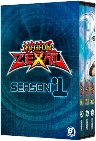 Yu-Gi-Oh! ZEXAL season 1 DVD set box mock-up from Cinedigm