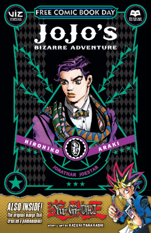 VIZ Media's Free Comic Book Day 2015 manga sampler featuring JoJo's Bizarre Adventure and Yu-Gi-Oh!