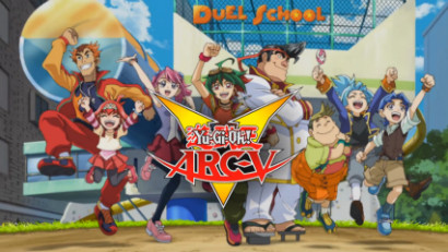 Yu-Gi-Oh! ARC-V logo from the season 1 English-dubbed opening