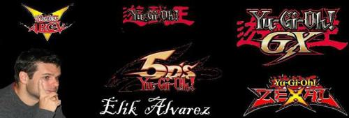 Elik Alvarez and many Yu-Gi-Oh! logos