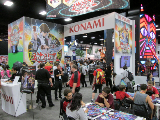 The Konami booth at San Diego Comic Con 2015