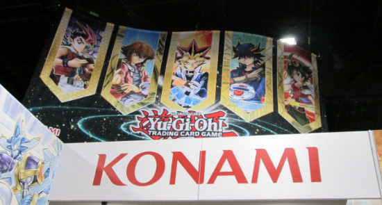 Banner hanging above the Konami booth at San Diego Comic Con 2015