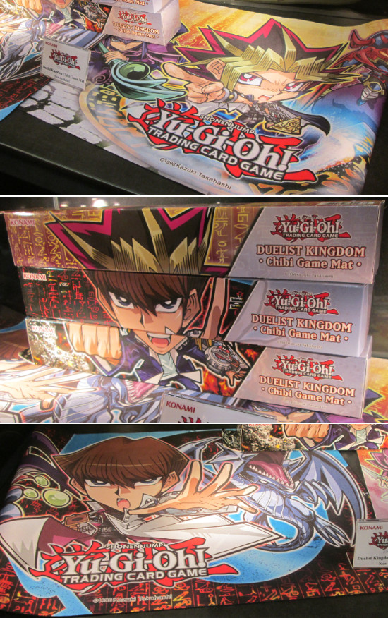 Duelist Kingdom Chibi game mats and their boxes
