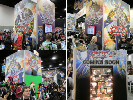 Different views of the Konami booth at San Diego Comic Con 2015