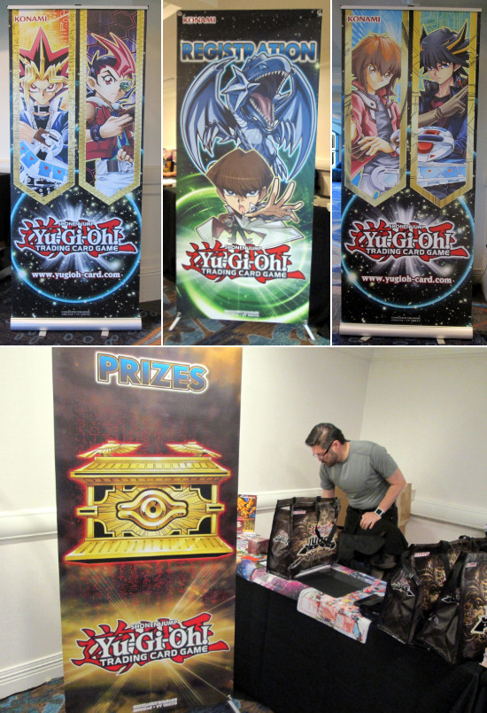 Yu-Gi-Oh! TCG banners at the Manchester Grand Hyatt San Diego