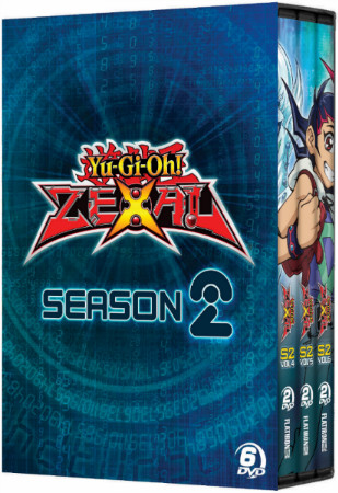 Yu-Gi-Oh! ZEXAL season 2 DVD set box mock-up from Cinedigm