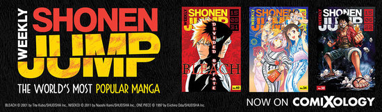 Banner ad for Weekly Shonen Jump on comiXology