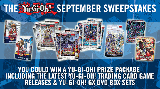 Yu-Gi-Oh! September 2015 Sweepstakes banner from YUGIOH.com