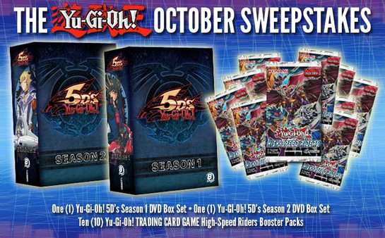 Yu-Gi-Oh! October 2015 Sweepstakes banner from YUGIOH.com
