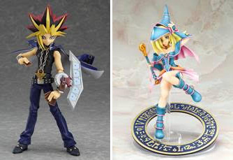 Good Smile Company and Max Factory's figma Yami Yugi and scale Dark Magician Girl figures