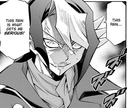 Shun Kurosaki, angry but driven after getting attacked by Yuya in Yu-Gi-Oh! ARC-V manga chapter 5