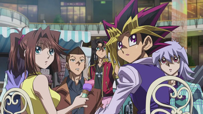 Yugi, Anzu, Bakura, Honda, and Otogi in the new Yu-Gi-Oh! The Dark Side of Dimensions trailer