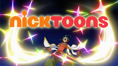 Yuya Sakaki dramatically summoning the Nicktoons logo