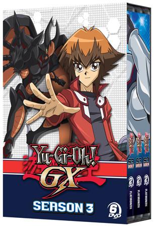 Yu-Gi-Oh! GX season 3 DVD set box mock-up from Cinedigm