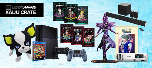 Loot Anime's March 2016 Kaiju Crate featuring Dark Magician statue and more