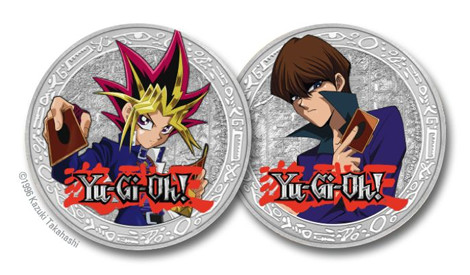 Yu-Gi-Oh! collectible coins design mock-up from the New Zealand Mint