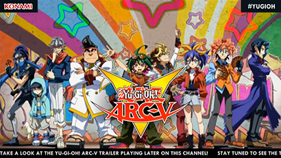 Yu-Gi-Oh! ARC-V logo from the new English-dubbed opening shown during the YCS Las Vegas live stream