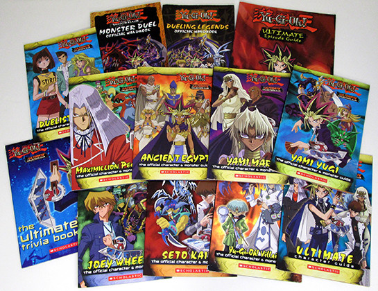 Some of Scholastic's Yu-Gi-Oh! books from the mid-2000s