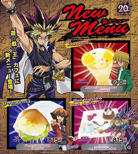 Three new menu items at the Yu-Gi-Oh! Cafe inspired by Jonouchi, Judai, and Black Magician and Black Magician Girl