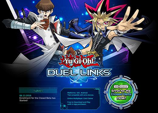 Yu-Gi-Oh! Duel Links homepage