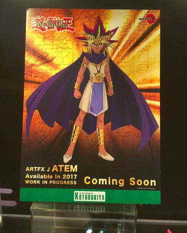 Illustration of Kotobukiya's upcoming Atem figure