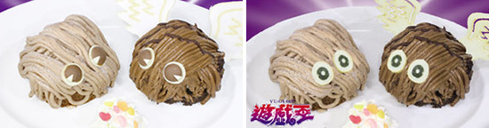 Kuriboh and Winged Kuriboh Mont Blanc desserts, then and now
