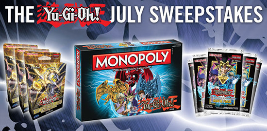 Yu-Gi-Oh! July 2016 Sweepstakes banner from YUGIOH.com