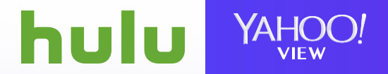 Hulu and Yahoo View logos