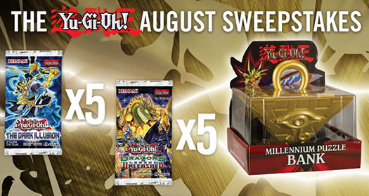 Yu-Gi-Oh! August 2016 Sweepstakes banner from YUGIOH.com