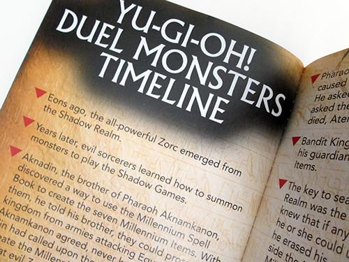 A page of the Duel Monsters timeline in Yu-Gi-Oh! Official Handbook