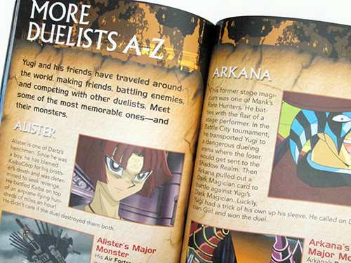 First page of More Duelists A-Z section in Yu-Gi-Oh! Official Handbook
