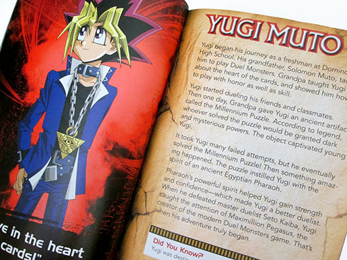 Yugi Muto's biography in Yu-Gi-Oh! Official Handbook