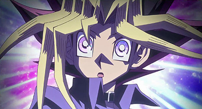 Yugi's eyes glowing in the Yu-Gi-Oh! The Dark Side of Dimensions 4DX and MX4D screenings trailer