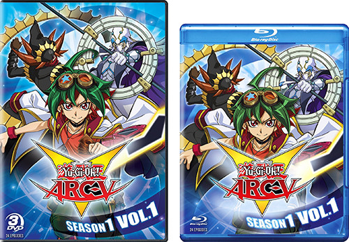 Cinedigm's Yu-Gi-Oh! ARC-V DVD and Blu-ray cover art