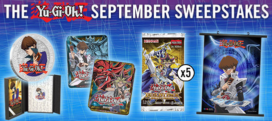 Yu-Gi-Oh! September 2016 Sweepstakes banner from YUGIOH.com