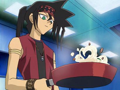 Ryuji Otogi cooking pasta in episode 155