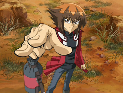 One last Gotcha from Judai Yuki in the final scene of GX episode 180