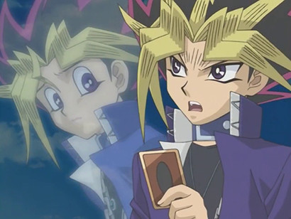 Yami Yugi promising Yugi he won't play The Seal of Orichalcos in YGOTAS episode 71