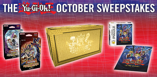 Yu-Gi-Oh! October 2016 Sweepstakes banner from YUGIOH.com
