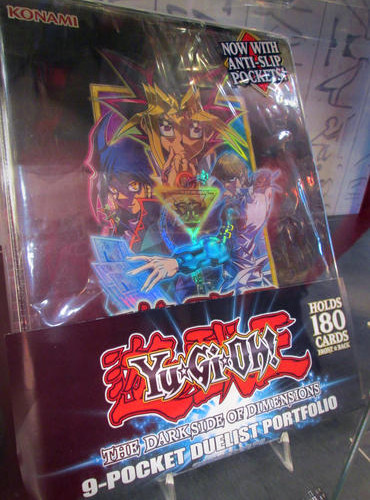 Yu-Gi-Oh! The Dark Side of Dimensions 9-pocket duelist portfolio on display at NYCC 2016
