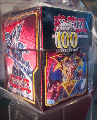 Yu-Gi-Oh! The Dark Side of Dimensions deck box (front-left view) on display at NYCC 2016