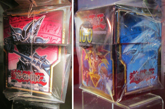Yu-Gi-Oh! The Dark Side of Dimensions deck box (left and front-right views) on display at NYCC 2016